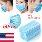 Kyпить 10-60pc 3 Layer Filter Mask Haze Weather Face Mouth Ma sks Protection Shield на еВаy.соm