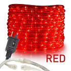 "Assorted Sizes 3/8"" Red LED Rope Lighting Flexible Indoor Outdoor Christmas Xmas"