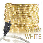 "Assorted Sizes 1/2"" Warm White LED Rope Lighting Thick Indoor Outdoor Christmas"
