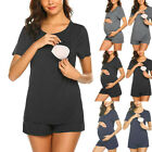Maternity Pajamas Set Daily Short Sleeve Breastfeeding Pregnancy Nursing Pajamas