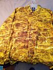 MOSSY OAK Mens YELLOW Camouflage  SHIRT LG Med UV Protection Wicking CAMO NEW