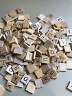 Scrabble Board Game Tiles Original Wood & New Single Tiles with Black Lettering