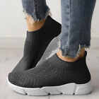 Women Mesh Comfy Sock Shoes Ladies Slip On Gym Sports Running Sneakers Trainers