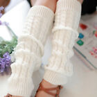 Women Girls Fashion Winter Leg Warmers Cable Knit Knitted Crochet Socks Leggings