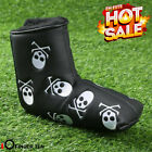 Golf Putter Cover PU Leather Waterproof Skull Club Head Covers Black White New