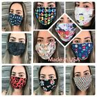 🇺🇸Filter Pocket 100%Cotton Face Mask Washable Reusable two Layers Unisex USA  image