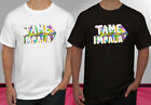 New Tame Impala Concert Logo Rock Band Black White Men's T-shirt S-2XL image