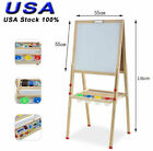 All In One Kid's Wooden Art Easel Double Side w/Paper Roll & Accessory Tray
