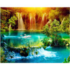 Full Drill Diamond Painting Kit Like Cross Stitch Swan Pool Waterfall Z032 $20.7 USD on eBay