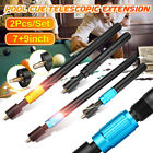 2Pcs Set Aluminum Snooker Pool Cue Telescopic Extension Stick Billiards 9'' 17'' $27.79 USD on eBay