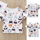 Toddler Baby Boy Girl Kid Short Sleeve Cartoon Dog Printed Tops T-Shirt Clothes