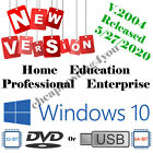 Latest! Windows 10 All Versions Available Upgrade/Install/Repair/Restore DVD/USB