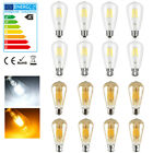 'Vintage Led Light Bulb Clear Filament Retro Edison Lamp 4/6/8w B22/e27