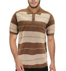 Men's Short Sleeve Charlie Brown Striped Ribbed Knitted Casual Polo Shirt