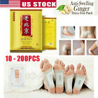 10 Detox Foot Pads Ginger Extract Toxin Removal Anti-Swelling Weight Loss Patch $13.89 USD on eBay