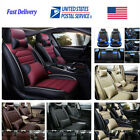 Top PU Leather Car Seat Covers Front&Rear Full Set for 5-Seats Car SUV Universal $119.99 USD on eBay