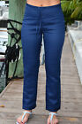 Azucar Ladies 100 Linen Drawstring Lined Pants 3 Colors S - 1X - LLGP1083