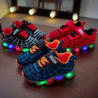 Kyпить Children Kids Boys Girls LED Trainers Shoes Flashing Light Up Sneakers Spiderman на еВаy.соm
