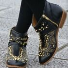ZARA Black Leather Studded Rocker Biker Ankle Boots rare sold out US 6.5 EU 37 for sale  Shipping to Ireland