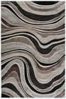Contemporary Modern Rugs Imagination Waves Cream Taupe Grey