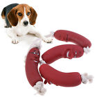Pet Toys Sausage Squeaky Healthy Latex Dog Toys Sausage On Rope Home & Kitc  'i