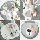 Baby Crawling Blanket Cute Round Play Mat Floor Rug Kids Activities Playing Mat