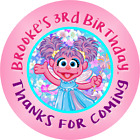 ABBY CADABBY PERSONALIZED BIRTHDAY ROUND PARTY STICKERS FAVORS CUSTOM LABELS