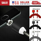 2 Pack Magnetic led Light Charging Micro USB C Type-C IOS Phone Charger Cable US