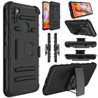 For Samsung Galaxy A11 / A21 Phone Case With Stand Belt Clip Holster Armor Cover