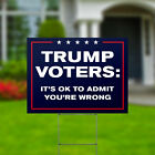 """Voter Mistake Anti Donald Trump Yard Signs Double Sided 24x18"""" + Metal H Stakes"""