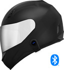 Motorcycle Helmet with Bluetooth Headset installed + Chrome Shield
