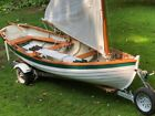 16' Wooden Sailboat with Trailer - Beautiful Condition image
