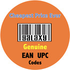 EAN Numbers UPC Numbers EAN Barcodes UPC Codes 13 Digit EAN Codes 10 - 100000 <br/> Over 25M Sold * Genuine * 24X7 Service * Fast Delivery