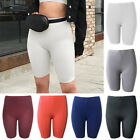 Women High Waist Yoga Shorts Ruched Push Up Sports Hot Pants Solid Gym Workout