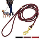 Genuine Leather Dog Leash for Large Dogs Aggressive Long Training Walking Leash