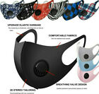 Kyпить Reusable Washable Adult Soft Cloth Breathable Face Mask With Breathing Valve на еВаy.соm