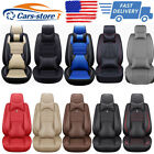 Universal Top PU Leather Car Seat Cover Luxury 5-Sit Front&Rear Car SUV Interior $89.68 USD on eBay