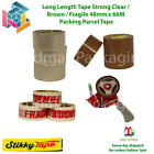 STICKY TAPE BRANDED PARCEL PACKING TAPE BROWN / CLEAR / LOW NOISE FRAGILE