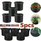 USA 5-Pack Grow Bags Aeration Fabric Planter Root Growing Pots Handles Container