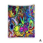 Wall Hanging Mandala Bedspread Indian Psychedelic Colorful Tapestry Decor U9Y0