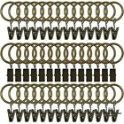 42 Pack Curtain Rings With Clips Decorative Drapery Rustproof Vintage 1 Inch