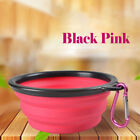 2 Pack Set Dog Portable Pet Bowl Food & Water Collapsible Dish Travel Fold-able