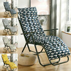 Sun Lounger Cushion Outdoor Garden Patio Recliner Thick Padded Replacement //