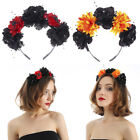Boho Floral Garland Crown Hair Wreath Flowers Headband Headpiece for Party