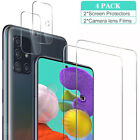 For Samsung Galaxy A51 A71 5G HD Tempered Glass Screen Protector+Lens Protector