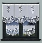 Kitchen Curtains Cafe Net Curtain Lace White Window Decor Sold By Panel