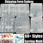 Silicone Earring Pendant Mold Necklace Jewelry Resin Mould Casting Craft Tool Au