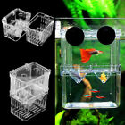 Clear Fish Breeding Aquarium Box Tank Isolation Incubator Hatchery Breeder 13US