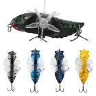 Hard Fish Lure Bionic Cicada Shape Fishing Bait with Spins Propeller Treble Hook