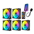 5-Pack RGB LED Quiet Computer Case PC Cooling 120mm Fan with 1 Remote